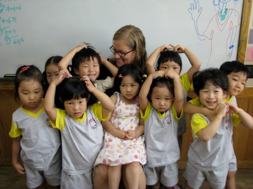 Kristin's last day with some remarkable kids.