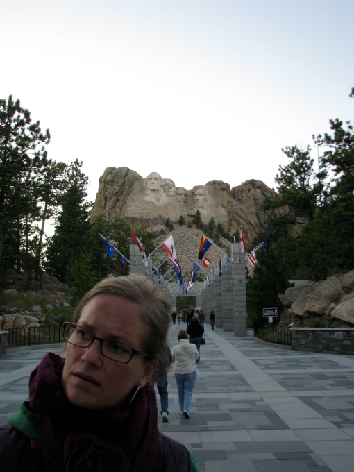 The search for the bathroom at Mount Rushmore.